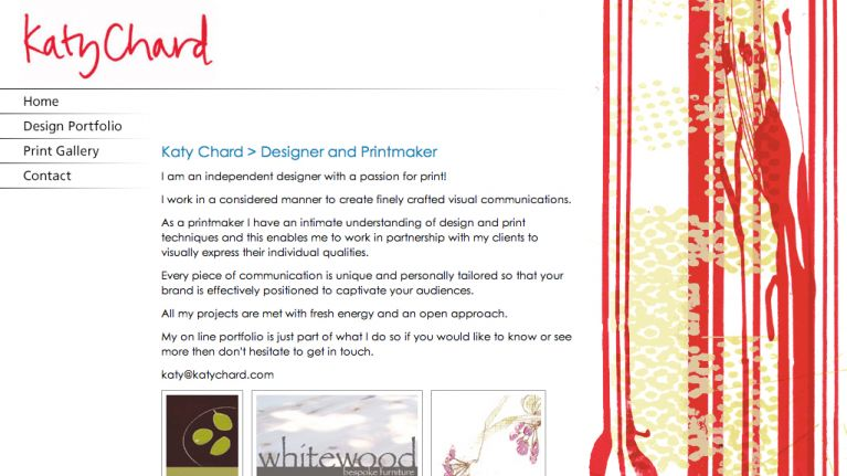 Katy Chard website design